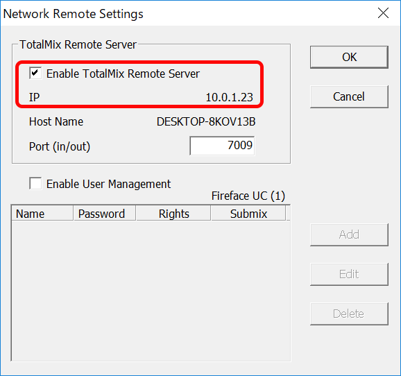 Network Remote Settings Windows