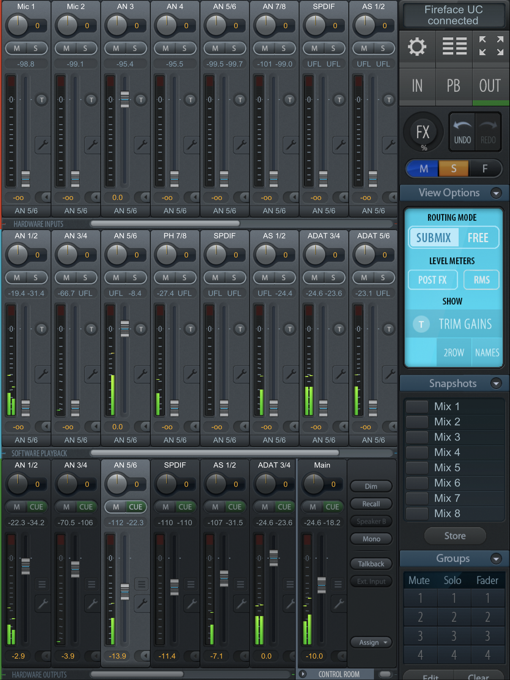Mixer View画面