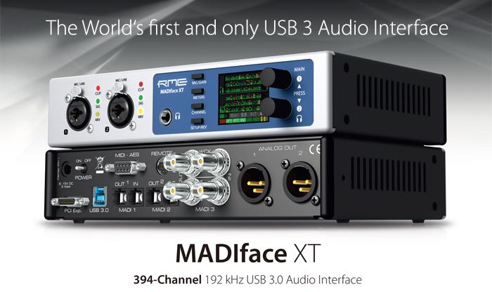 世界初、USB3オーディオ・インターフェイス MADIface XT 登場