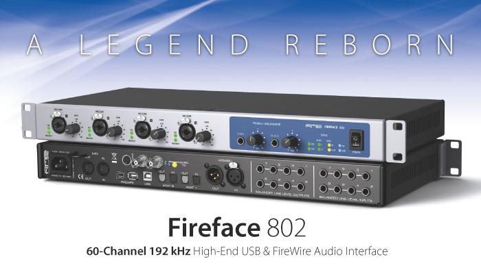 次の10年を見据えたプロのためのオーディオ・インターフェイス ─ Fireface 802