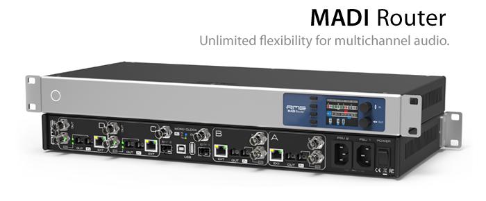 MADIの正統RMEがお届けする最新のルーティング・ソリューション ─ MADI Router